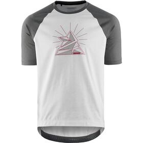 Zimtstern PureFlowz Camicia a maniche corte Uomo, bianco/grigio